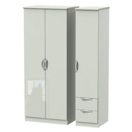 Camden Tall Triple Plain + Drawer Robe
